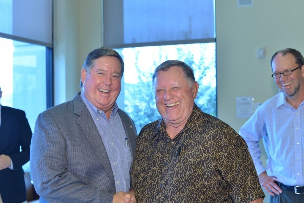 Congressman Ken Calvert and TrafFix Devices CEO Jack Kulp